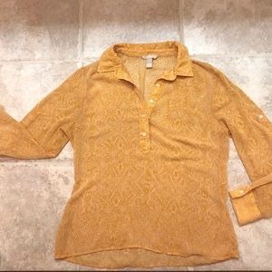 BANANA REPUBLIC long sleeve blouse buttons Large